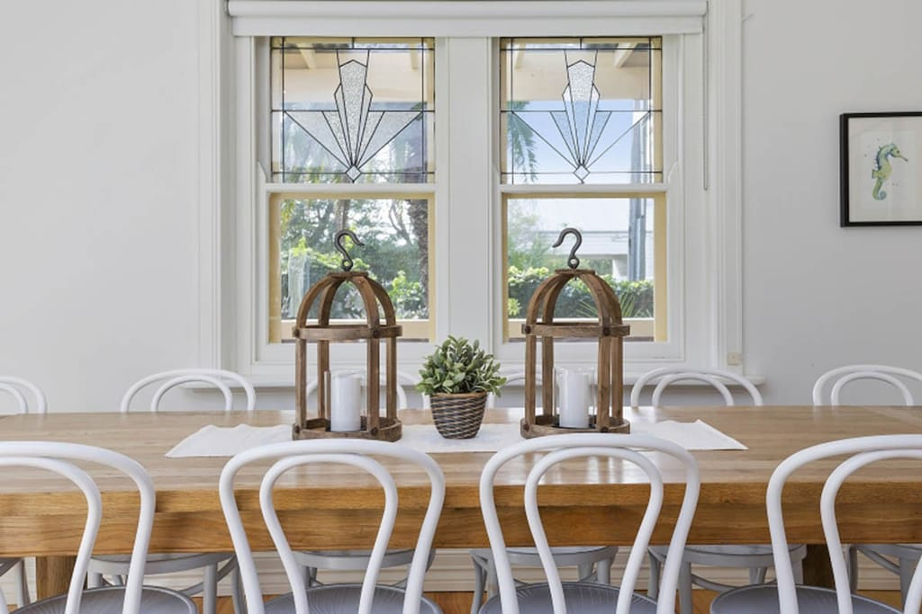 Light-filled dining area