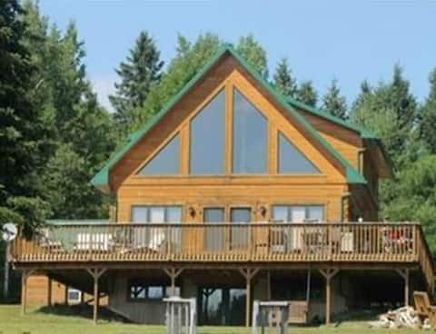 Entire Water Front Log Cabin