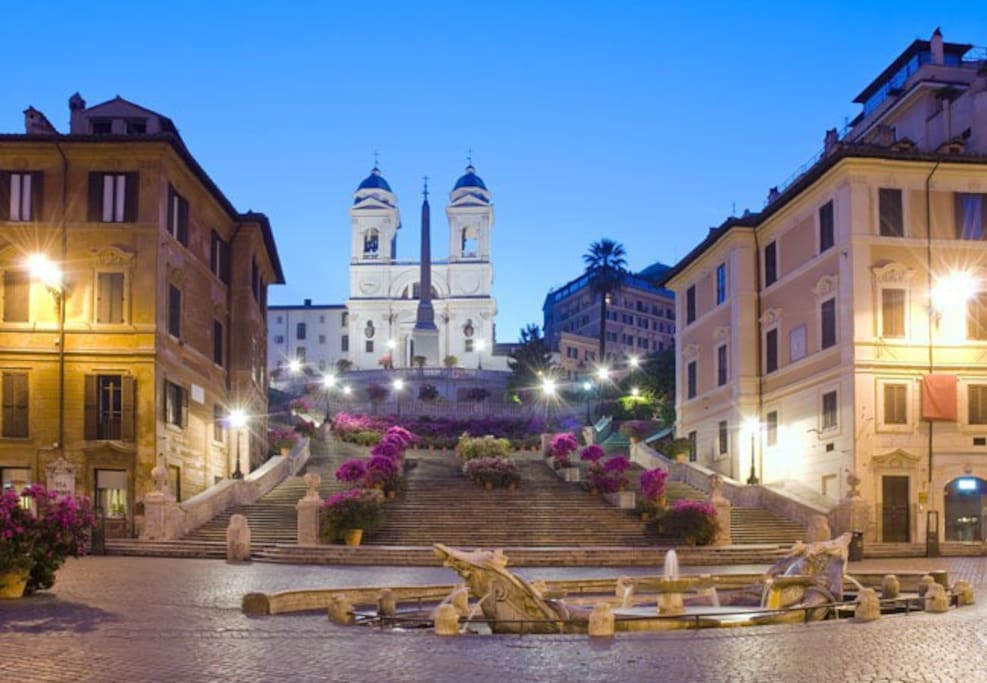 Few meters from Spanish Steps