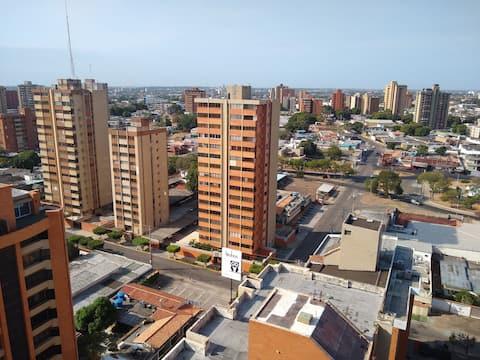 Increíble vista de la ciudad de Maracaibo