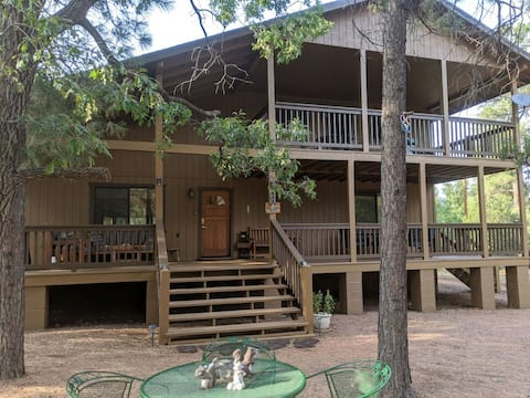 Spacious Cabin on 1 acre fenced lot in Happy Jack