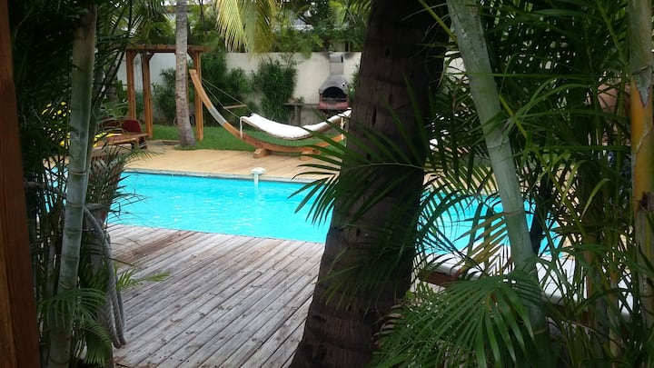 Charming bungalow near the beach and spa-jacuzzi