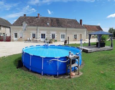 Chambre privée dans longère à la ferme