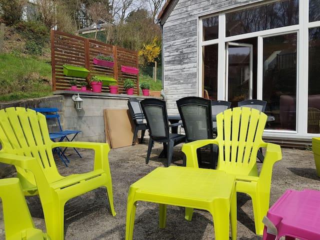 Maison calme avec jardin pour familles ou amis