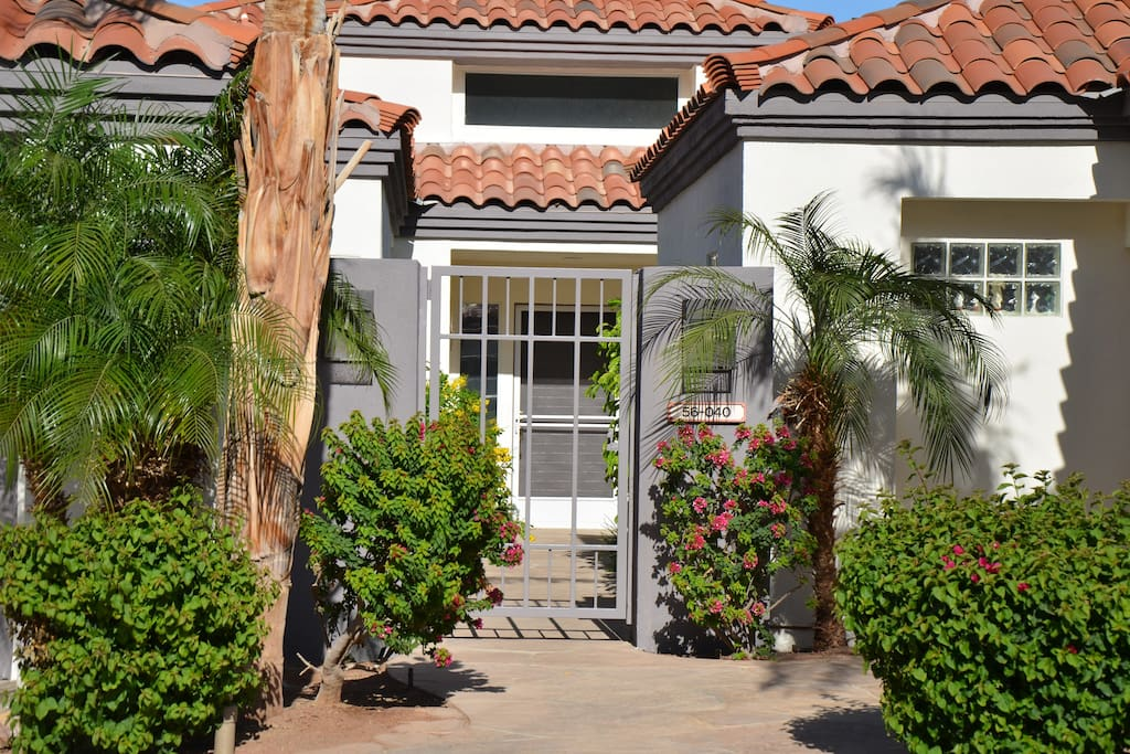 Front gated entryway.