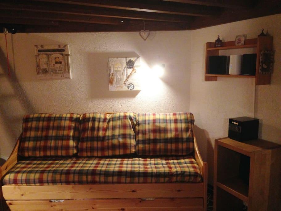 Le Salon - Canapé gigogne avec 2 couchages simples ou 1 couchage 160 x 190