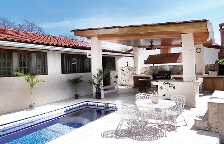Pool and outdoor kitchen