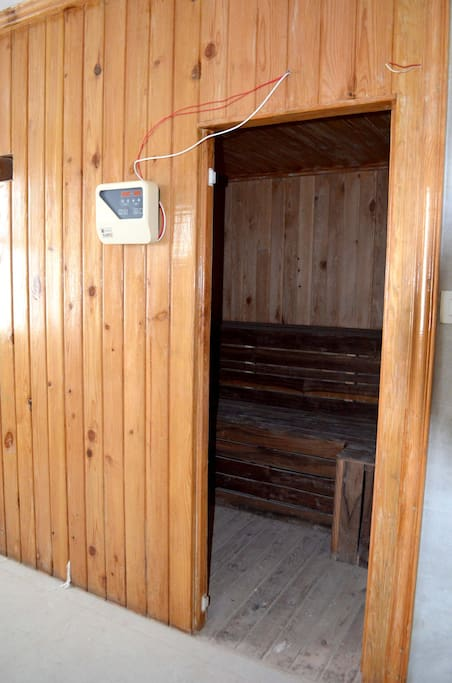 Sauna in the ground floor.