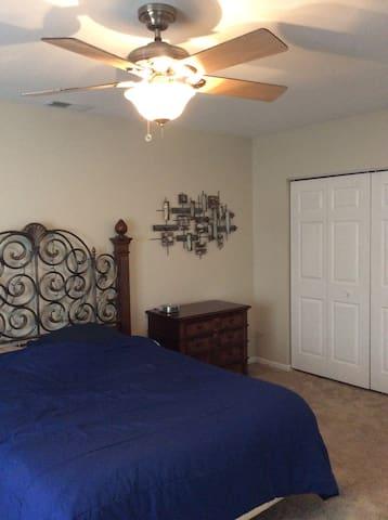 Large bedroom.  Queen mattress