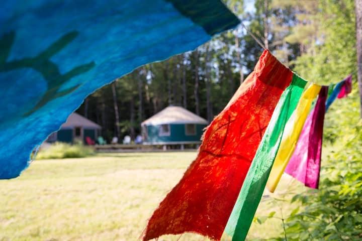"""Norumbega Green Double-Yurt, """"Peace & Quiet"""""""