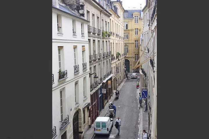 OUTSIDE on on rue des Grands Augustins in the 6th arrondissement