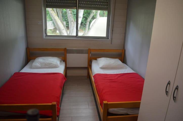 Chambre simple - 1 personne en gîte d'étape - Les Cabannes - Lägenhet