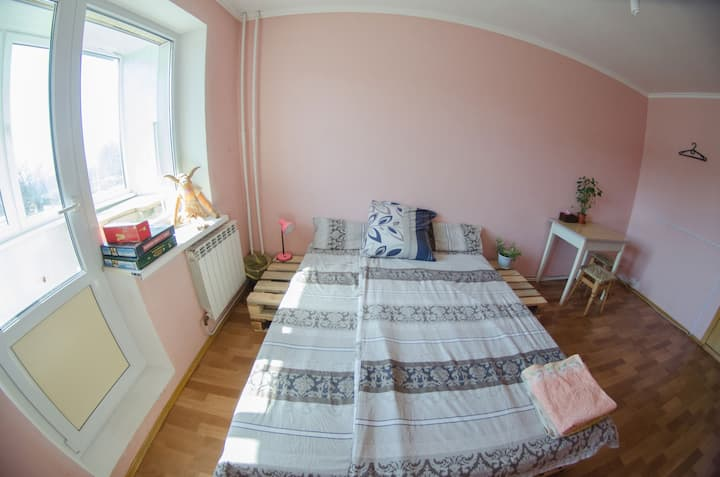 Privat room in Pereyaslav city center 1 double bed