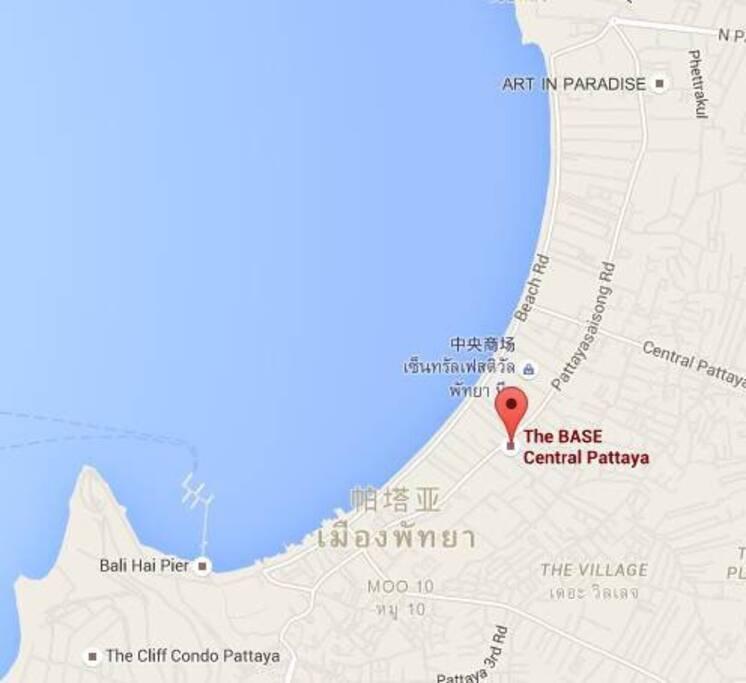 公寓位置。距离海边300米