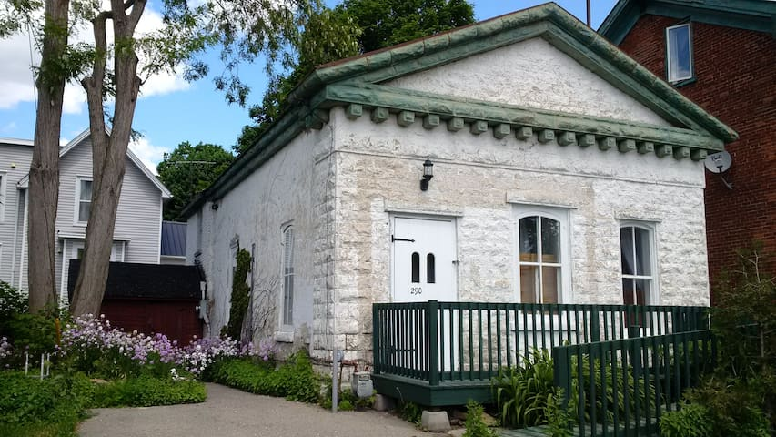 Quaint stone house near the St. Lawrence River