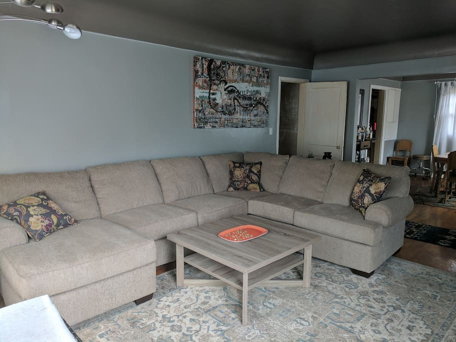 Living room - super cozy couch!
