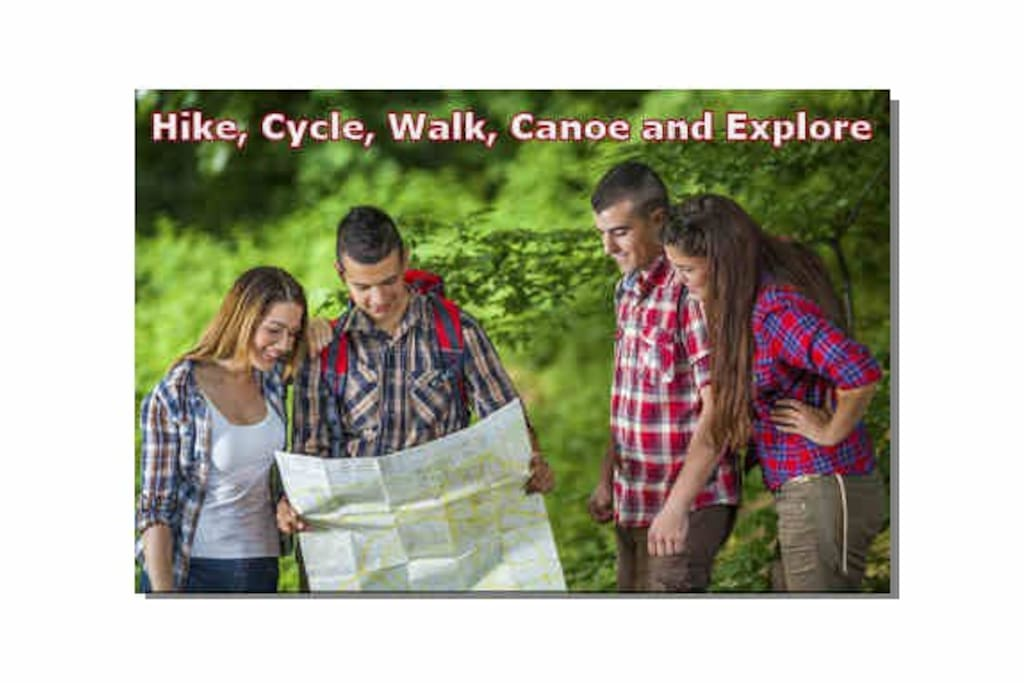 "We are close to the ""Great Outdoors"" Walking, Hiking, Canoeing, Cycling, Off-road BMX Bike Trails and Orienteering."