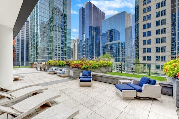 Business-friendly apartment w/ skydeck - 1 mile from Millennium Park!