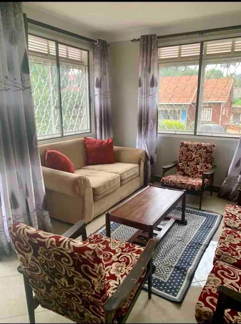 Bright furnished apartment F4 in Kampala suburbs