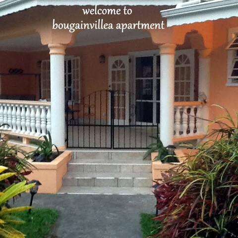 private veranda and entrance