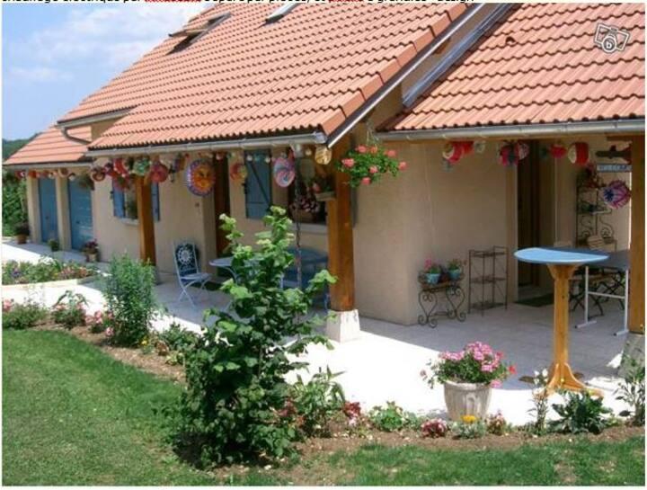Calme, villa, terrasse.