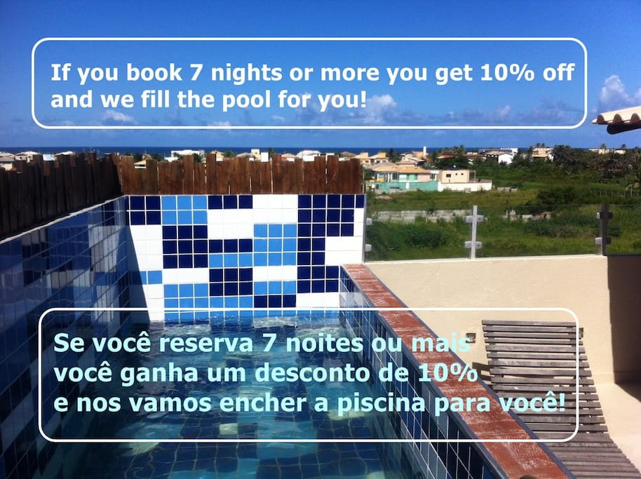 Our small pool on the roof terrace is only for guests who stay 7 nights or longer!