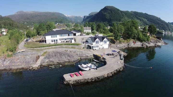 Boat house by the sea, Strandebarm in Hardanger
