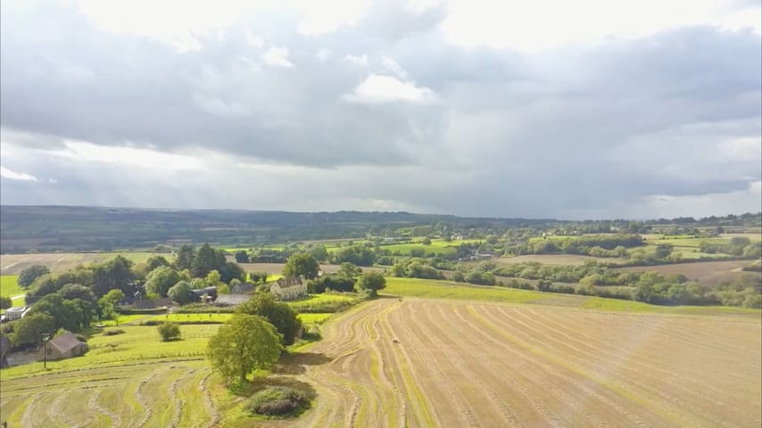 Birdseye view from Drone of the house