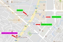 The place is just walking distance to Starmall, Shangri-la and Megamall. All are below 1km away. Easily you can use UBER or GRAB for pick up and drop off.