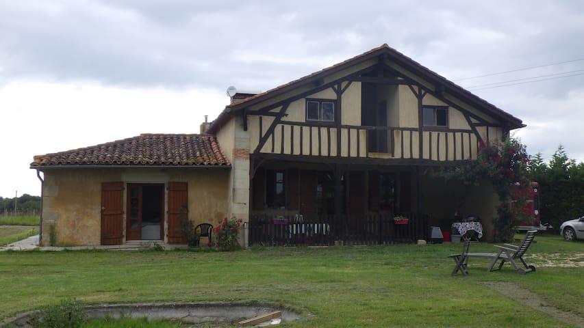 Chambre sympa - Nature et animaux - Labastide-d'Armagnac - Huis