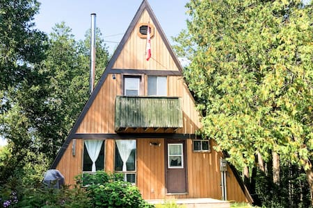 Riverbend Cabin - an A-Frame Waterfront Cottage