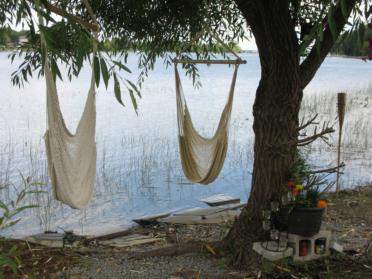 View Photos & HEATED TENT ON THE RIVER- WI FI quiet and private - Tents for Rent ...