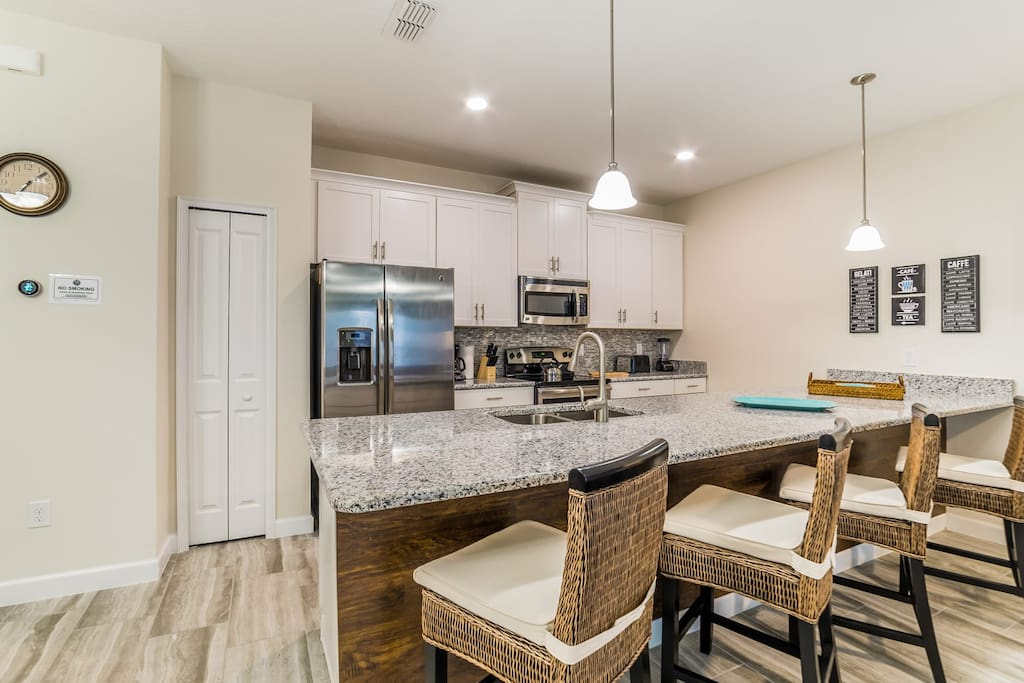 Spacious kitchen for cooking meals with your family