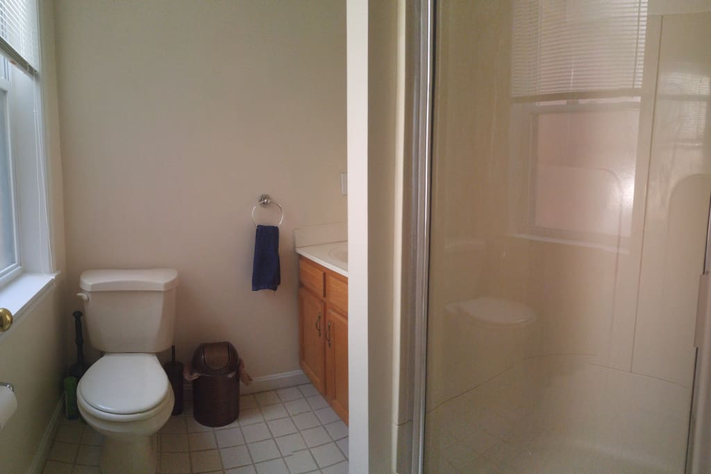 Private guest bathroom w/ shower