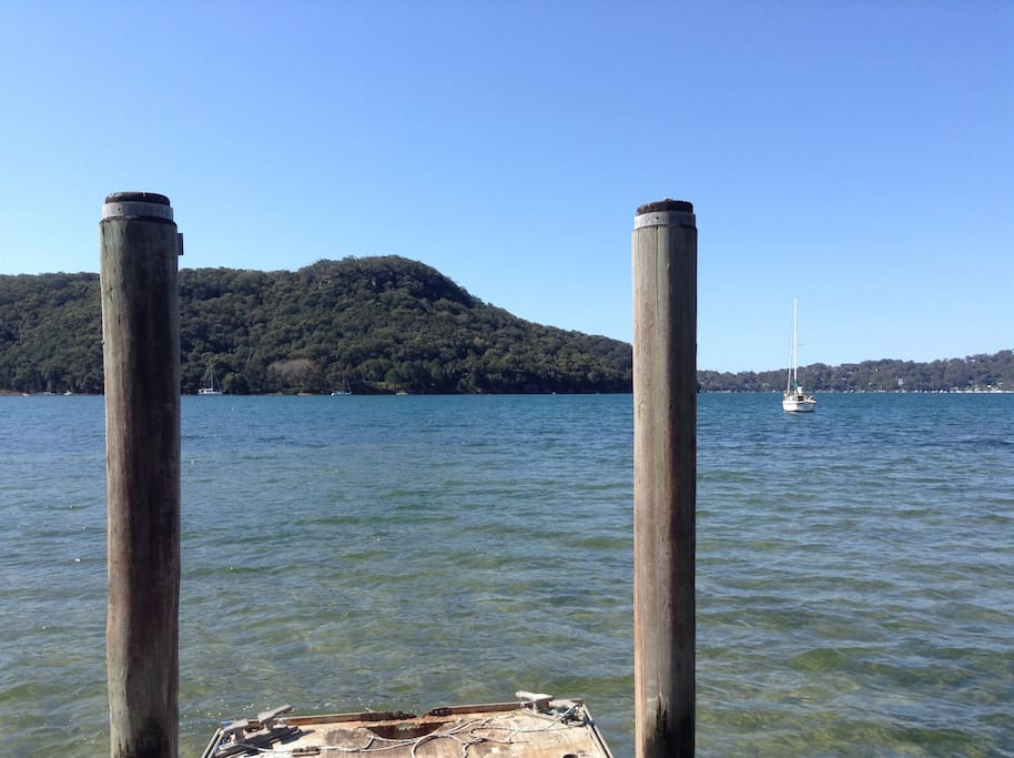 Pittwater from the end of our jetty.