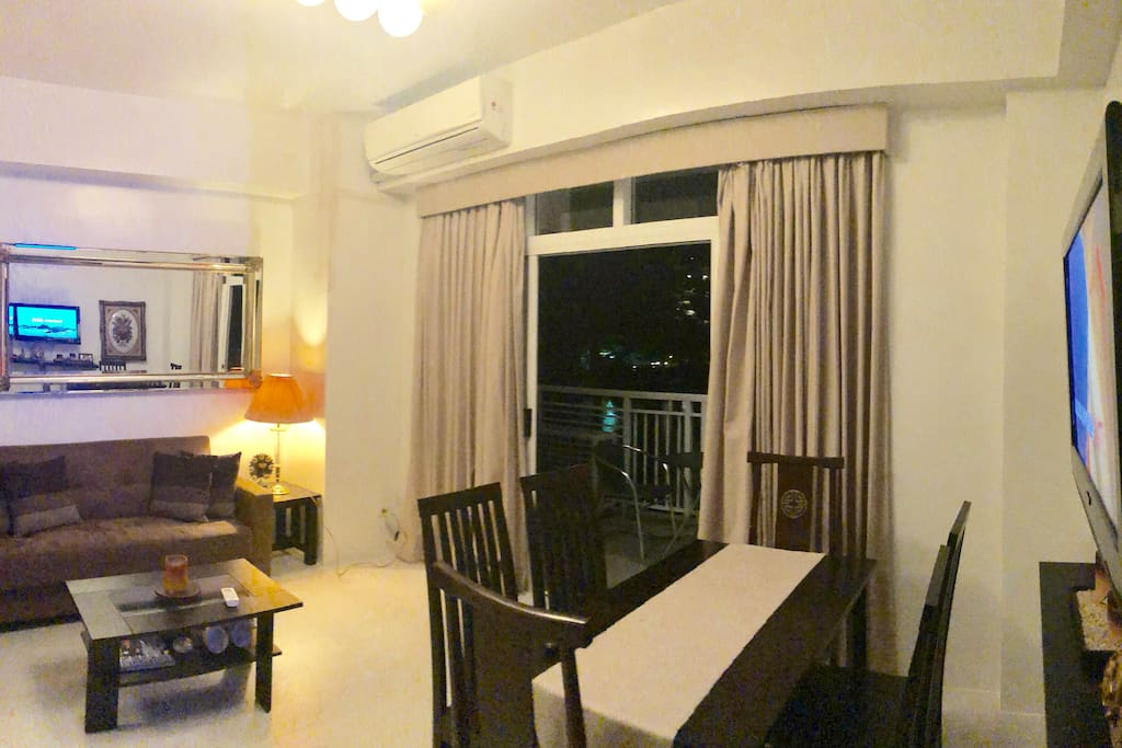 Living and Dining Rm with Balcony