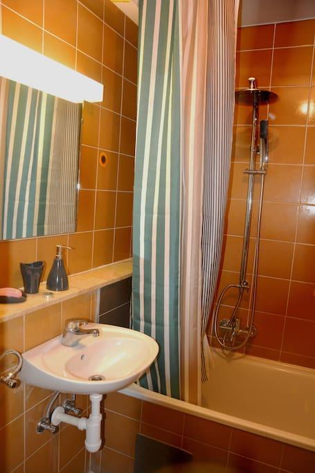 bathroom - bath - shower - washing machine - hair drier