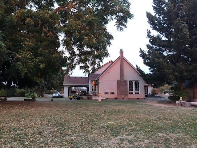 The home is In the center of a 5 acre plot,  surrounded by hazelnut orchards and berry farms.
