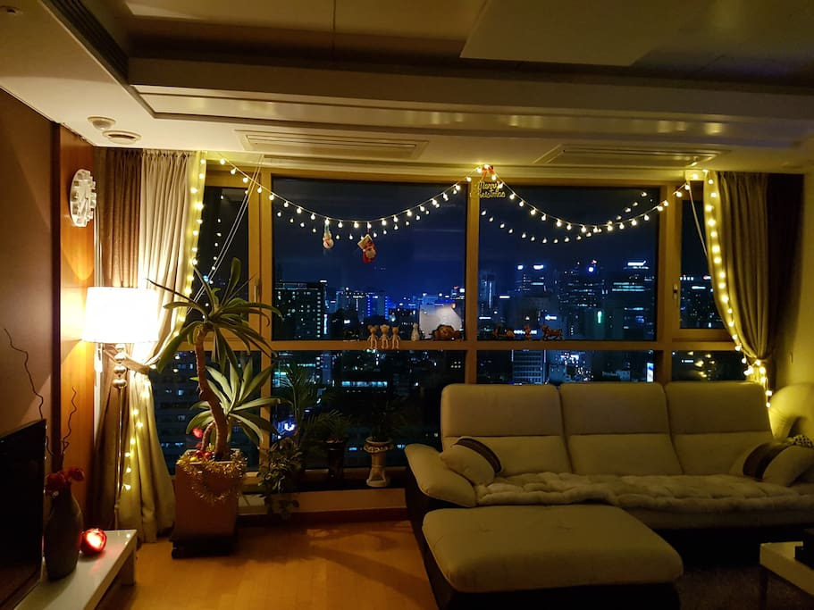 A night view from the living room2