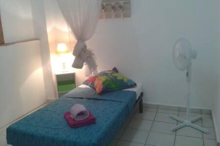 Chambre installée pour 1 occupant