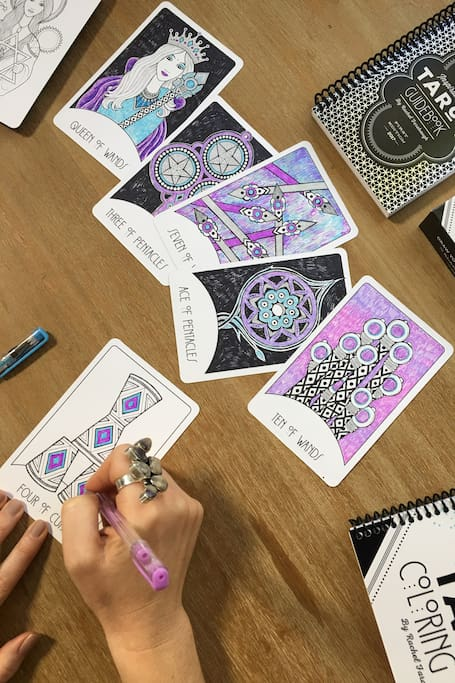 Coloring a Blank Deck