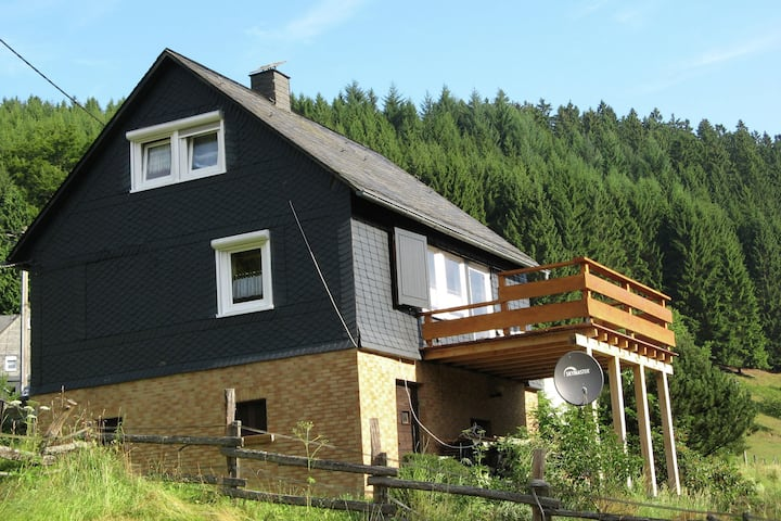 Holiday home in the Sauerland with a large terrace and a spaciously furnished interior