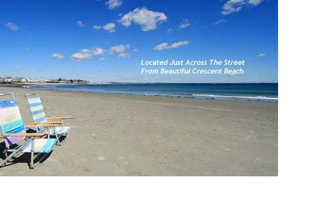 We're located just across the street from this beautiful beach (complimentary beach chairs available)