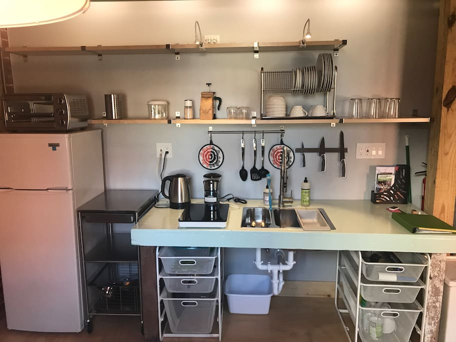 A little more detail of the mini-kitchen.