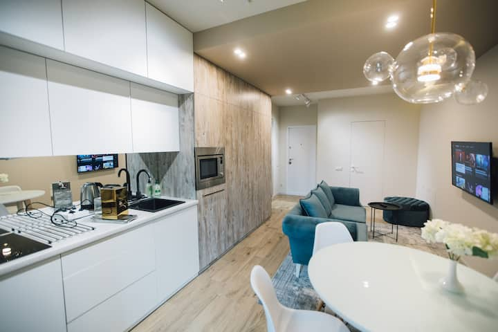 Atlant apartments-studio with bed