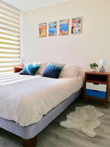 Habitación privada, céntrica y acogedora