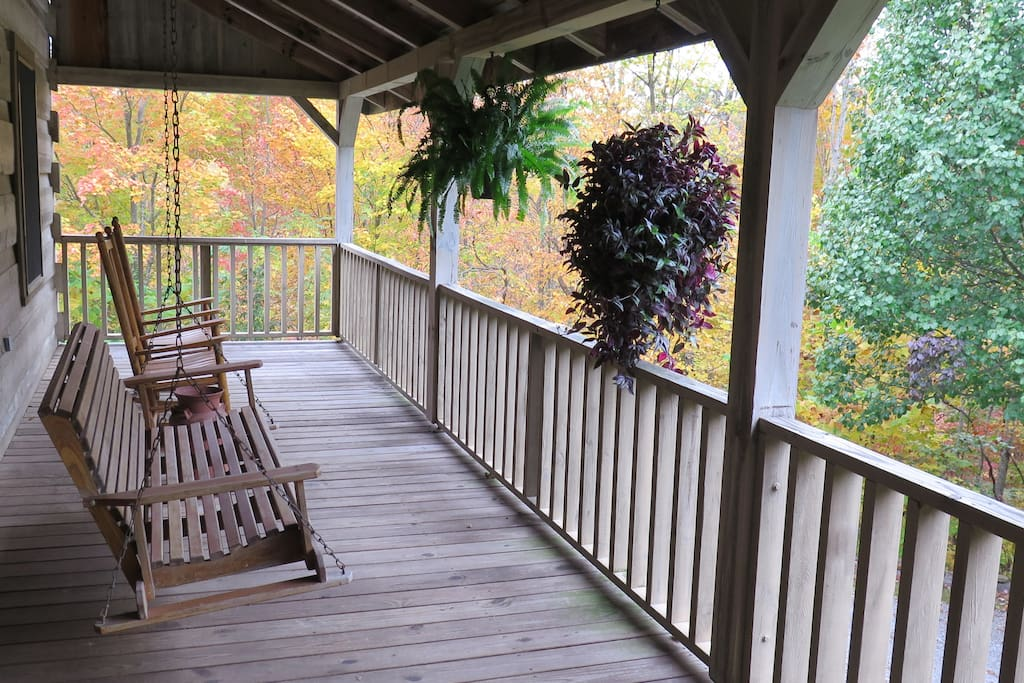 Grab a rocking chair or swing on our expansive front porch - the perfect place for relaxing and socializing.