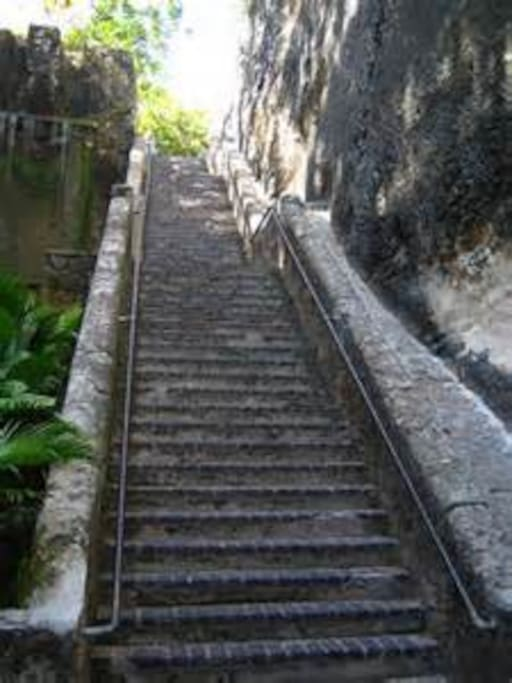 The Queen's staircase (66 steps)