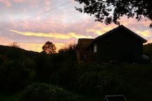 Enjoy the sun setting on the veranda.