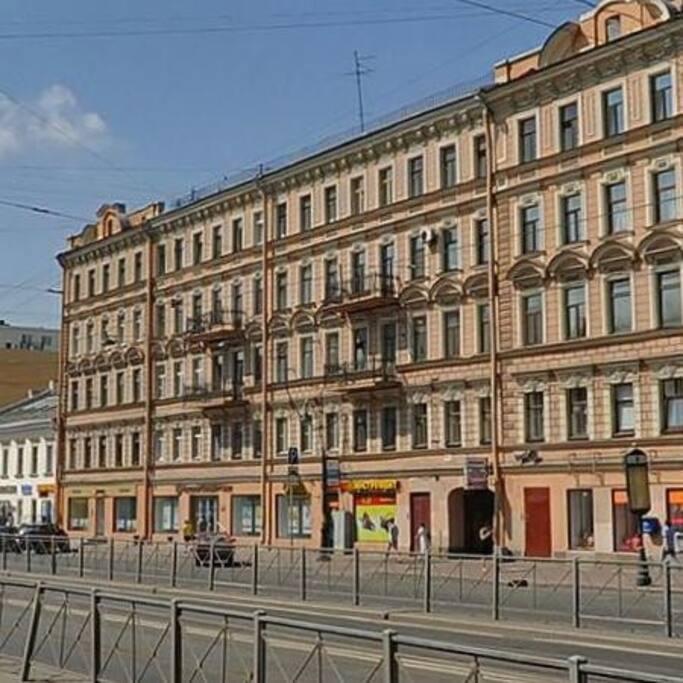 фасадный дом по Лиговскому пр. 1881 года постройки